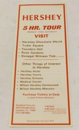 Dutchland 5 Hr. Tour Hershey Pennsylvania Flyer
