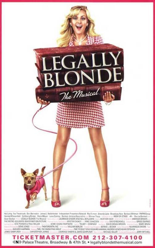 LEGALLY BLONDE THE MUSICAL (BROADWAY) Movie POSTER 11x17