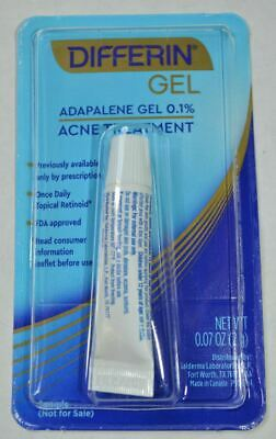 Differin Gel Adapalene Gel 0.1% Acne Treatment .07oz sample Exp 07/2021