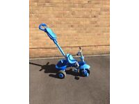 Little Tikes Trike with sun shade, basket and handle