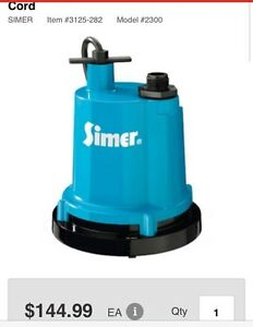 Portable 1/4 hp submersible utility  pump
