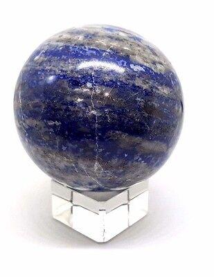 Lapislázuli Bola de Cristal Adivinación Adivinacion 63mm 380g Sphere & Soporte