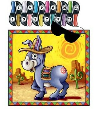 The Donkey Game (Pin The Tail On The Donkey Game Up To 12 Players Birthday Party)