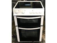 Logik ceramic electric cooker white 60 cm