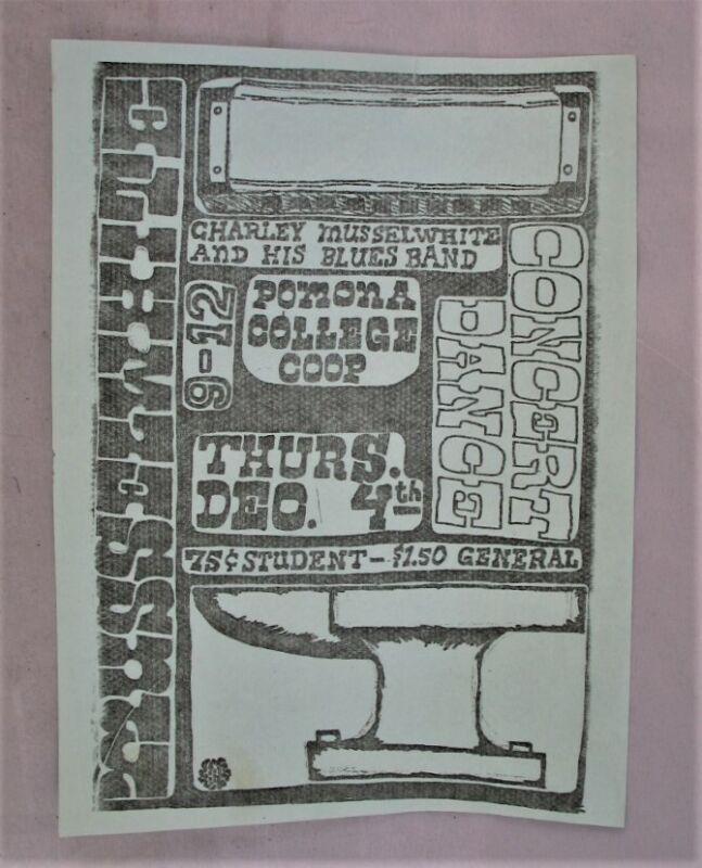 Charley Musselwhite Bluesband Concert Advertising Sheet