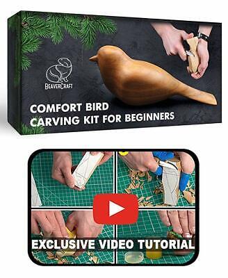 Wood Carving Knife Set DIY Complete Starter Whittling Kit Beginners BeaverCraft