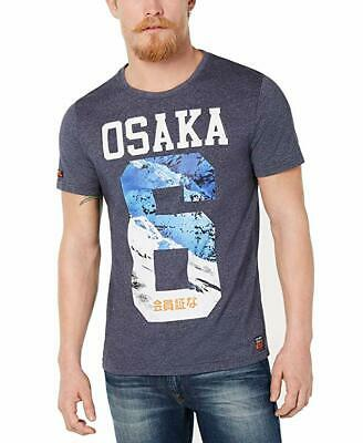 Superdry Mens T-Shirt Osaka No. 6 Short Sleeve Graphic Tee Gray Large - NEW