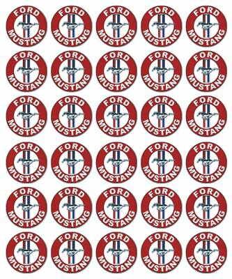 30 Ford Mustang Edible Cupcake Toppers Wafer Paper Birthday Cake Decoration #1 (Mustang Cake)