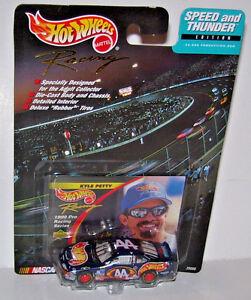 1999-Hot-Wheels-Racing-Kyle-Petty-Speed-amp-Thunder-Edition-Nascar-Car-With-Card