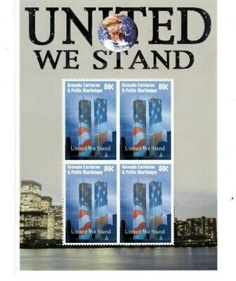 Grenadines 2002  - United We Stand  - Sheet of four  - MNH