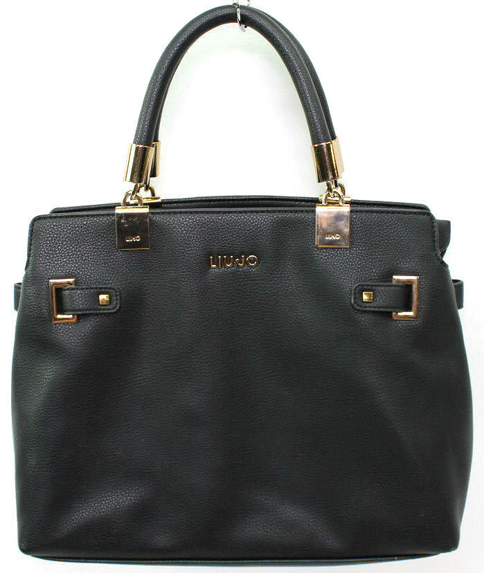 Liu Jo Damen Nimes Shopper Tote Handtasche Schultertasche 16x26x35 cm Schwarz