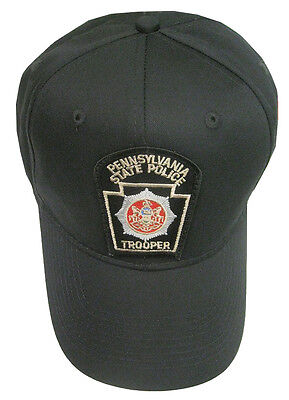 Pennsylvania State Police Patch Snap Back Ball Cap / Hat - BLACK - OSFA - New