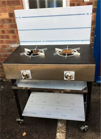 UNIQUE Cooker Solid Top Plate 2 Burner Natural Gas