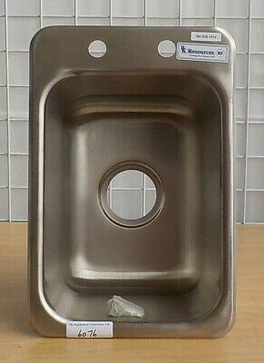 Single Stainless Steel Drop In Sink 10 X 14 X 10