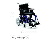 Enigma Energi 16in Dual control Electric Wheelchair