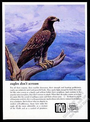 1969 Golden Eagle bird art Public Service Company of Colorado vintage print ad