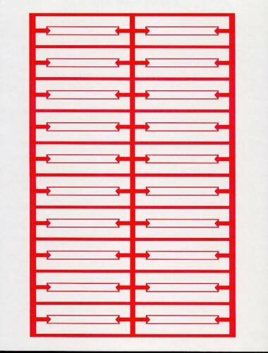 240 RED WHITE  BLANK JUKEBOX TITLE STRIPS 12 PAGES HEAVY CARD STOCK PERFORATED!!