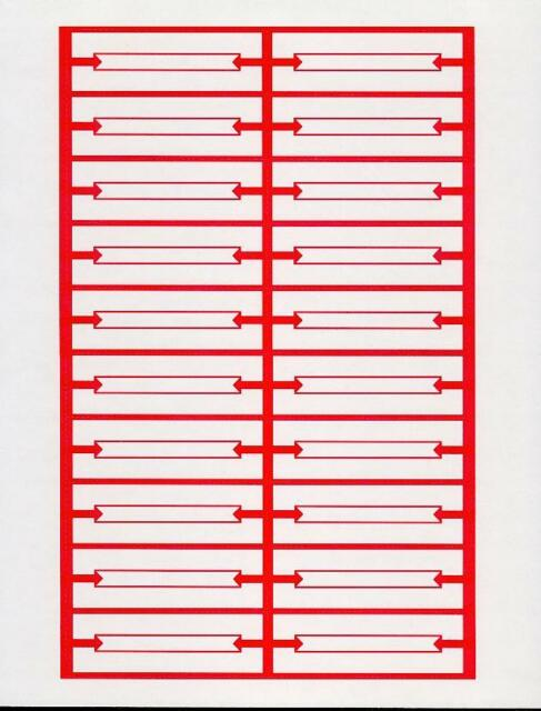 240 Red White Blank Jukebox Le Strips 12 Pages Heavy Card Stock Perforated