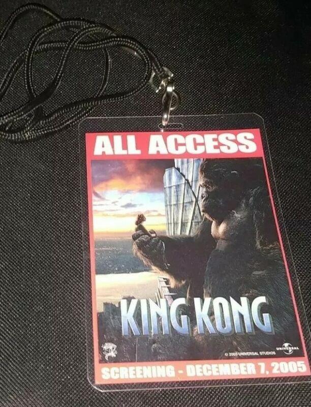 King Kong2005 WORLD PREMIERE All ACCESS GUEST PASS VIP Badge Lanyard