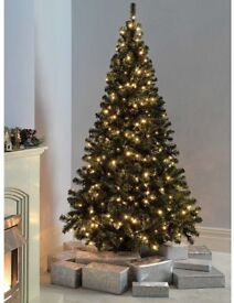 Christmas Tree brand new 7 ft Tall 7 settings lighting