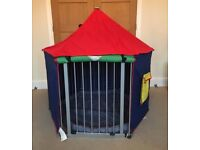 Babydan play pen with mat and tent