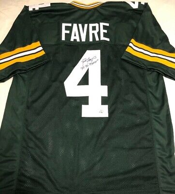 Brett Favre Signed 95,96,97 MVP Green Bay Packers Jersey Official Favre COA
