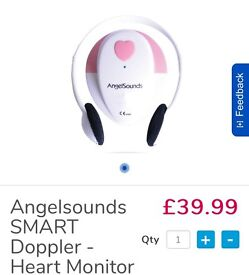 Angel sounds baby heart beat moniter - boxed with accessories