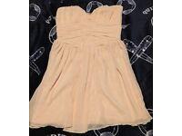 Stunning light pink Lipsy dress size 12 50's style strapless