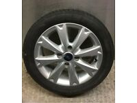"Ford Fiesta 15"" alloy wheel spoked with tyre 2007-2013 4x108 zetec titanium st"