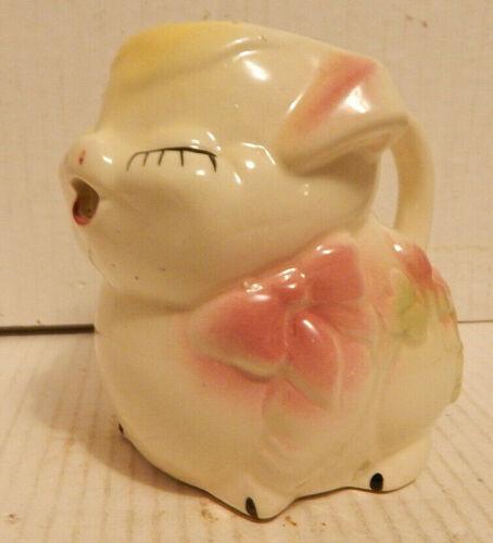 Vintage Small Ceramic Pig Creamer