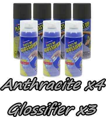 Performix Plasti Dip Gloss Wheel Kit 4 Anthracite 3 Gloss Cans True Metallic