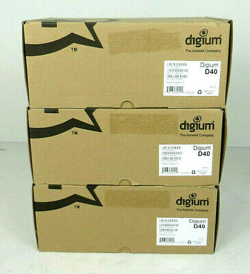 Lot Of 3 - Digium D40 2-line Ip Poe Lcd Backlit Business Phones - New Open Box