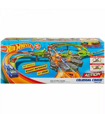 Hot Wheels Colossal Crash Track Set Kid Toy Car Play Multi-Player Child Fun Race
