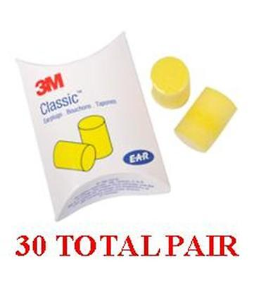 3M EAR Classic Uncorded Foam Pillow Pack 310-1001 - 30 Total -