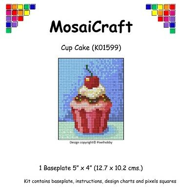 Cup Craft Kit (MosaiCraft Pixel Craft Mosaic Art Kit 'Cup Cake' Pixelhobby)