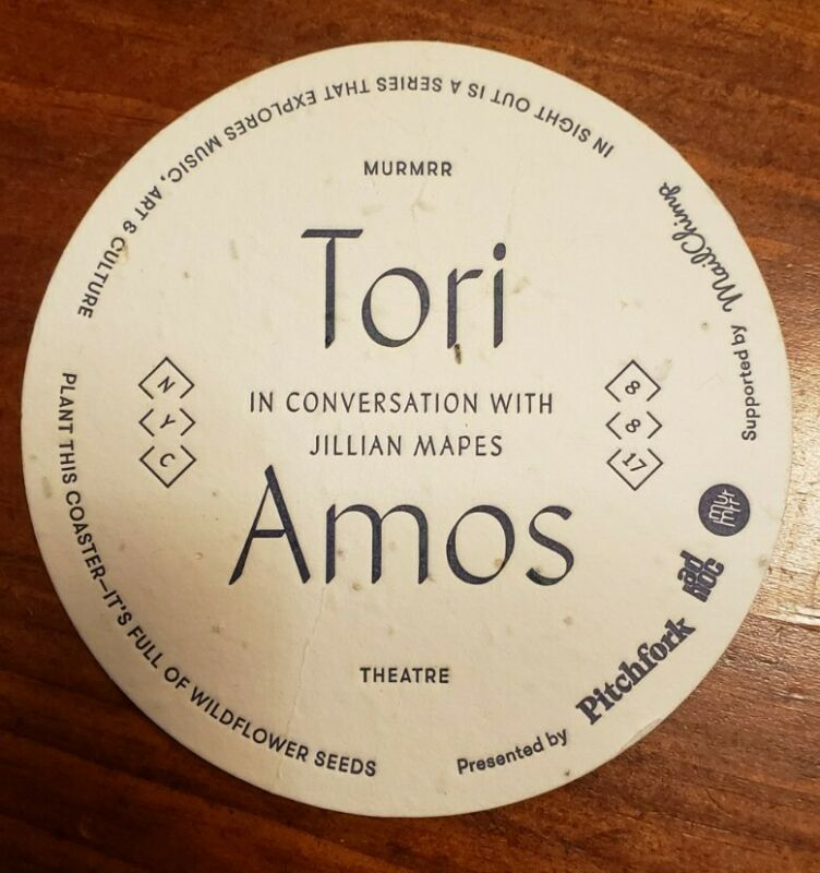 Tori Amos Coaster In Sight Out Series Conversation NYC 8 8 17 Murmrr Pitchfork