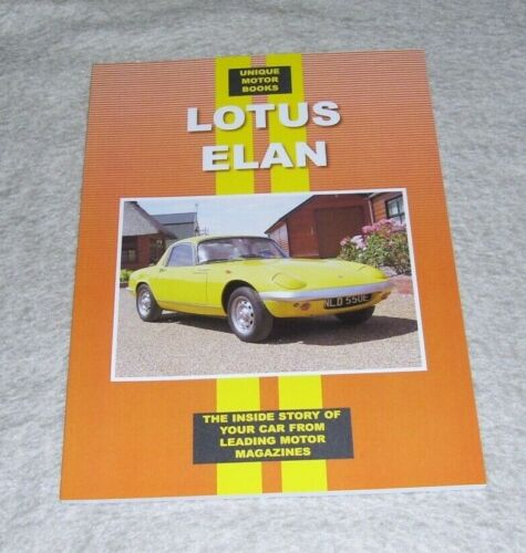 LOTUS+ELAN+1963-1970+ROAD+TEST+REPRINTS+BOOK+UNIQUE+MOTOR+BOOKS