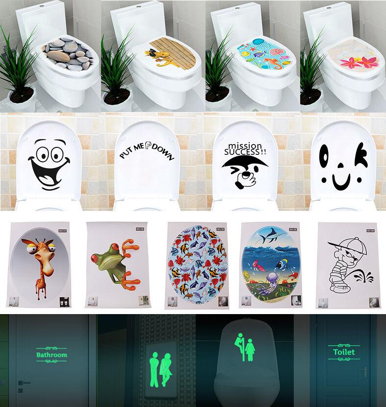 30 Toilet Seat Wall Sticker Vinyl Art Wallpaper Removable Ba