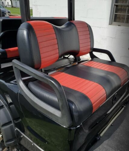 Yamaha Drive / G-29 - 2 Stripe (FRONT+REAR SEAT COMBO) Golf Cart Seat Cover