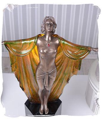 TISCHLAMPE ART DECO SKULPTUR TÄNZERIN 20er Jahre Stil Leuchte Lampe Boudoir