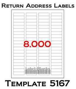 Avery 5167 labels ebay for Avery 5160 return address label template