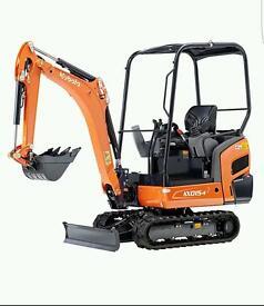 Mini digger hire in Kings Lynn & surrounding areas.
