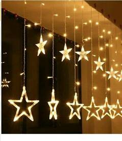 Plug in star curtain light
