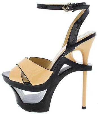 Open Peep Toe Stiletto High Heel Platform Pumps Stripper Dancer Shoes Size H97