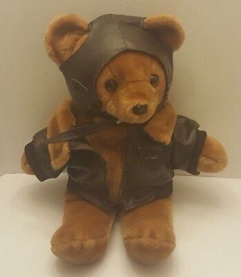 Vintage Federal Express 18  Plush Bear With Hat And Jacket Rare Flawed