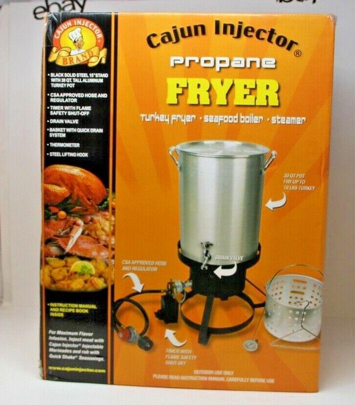 Cajun Injector Propane Deep Fryer Steamer Turkey 30 Quart w
