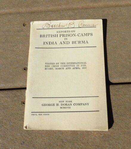 WW1 British United Kingdom Prison Camps in India & Burma