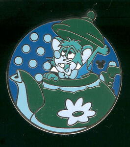 DLR 2012 Hidden Mickey Mad Tea Party Dormouse Disney Pin 91272