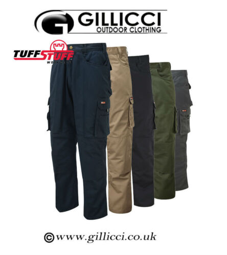 Mens Tuff Stuff Pro Heavy Duty Work Workwear Cargo Trousers Knee Pad Pockets