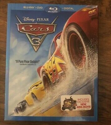 Cars 3 (Blu-ray, DVD, Digital) Brand New W/slipcover